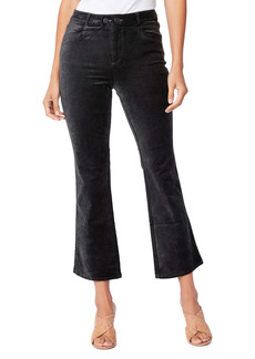 PAIGE Claudine Double Button High Waist Flare Jeans (Dark Spruce)