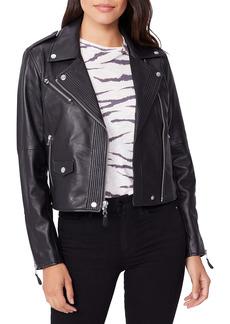 PAIGE Danette Leather Moto Jacket