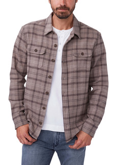 PAIGE Eastway Williams Classic Fit Plaid Flannel Button-Up Shirt