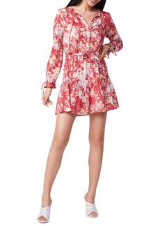 PAIGE Evanne Floral Long Sleeve Shift Dress