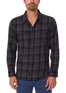 PAIGE Everett Plaid Button-Up Shirt