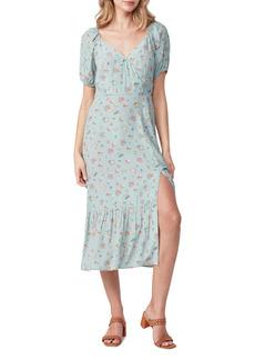 PAIGE Gjelina Floral Print Faux Wrap Dress