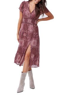 PAIGE Holland Smocked Silk Dress