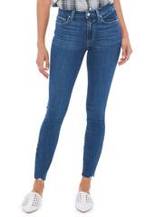 PAIGE Hoxton Chew Hem Ankle Skinny Jeans (Bahia)