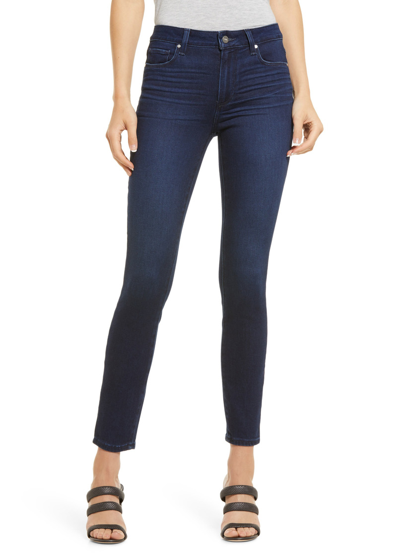 PAIGE Hoxton High Waist Ankle Skinny Jeans (Cosmopolitan)