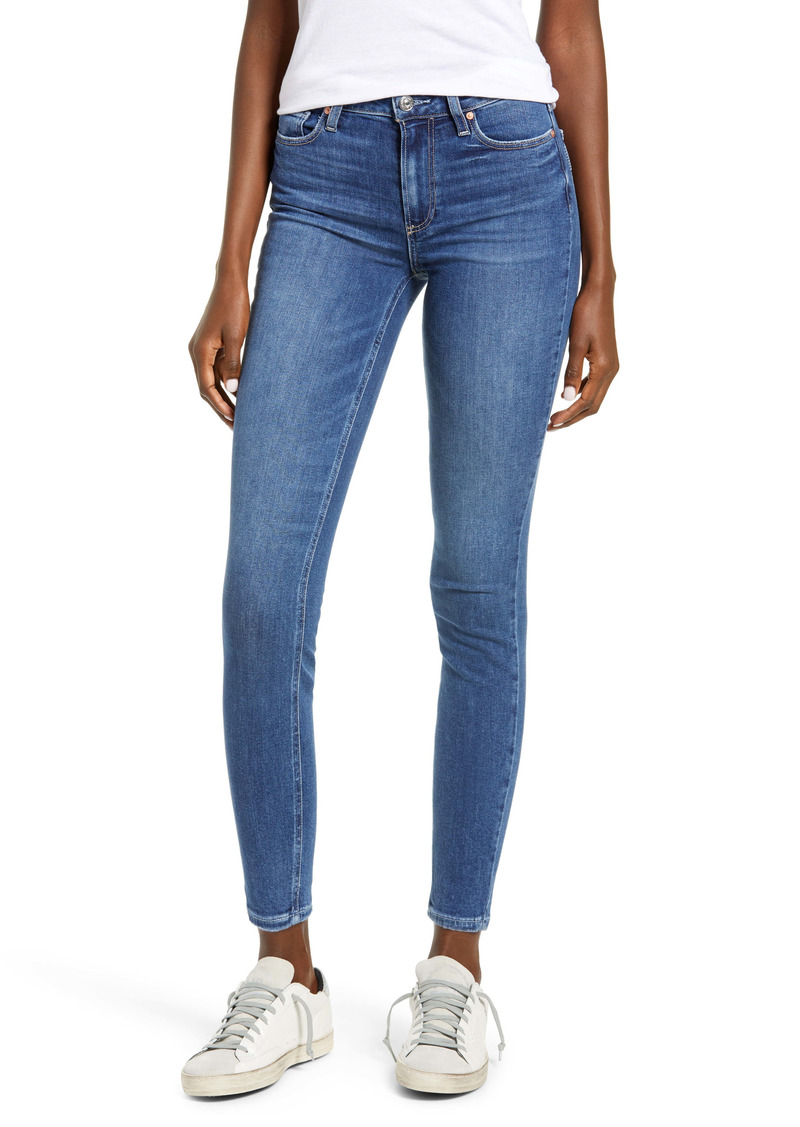 PAIGE Hoxton High Waist Ankle Skinny Jeans (Roadhouse)
