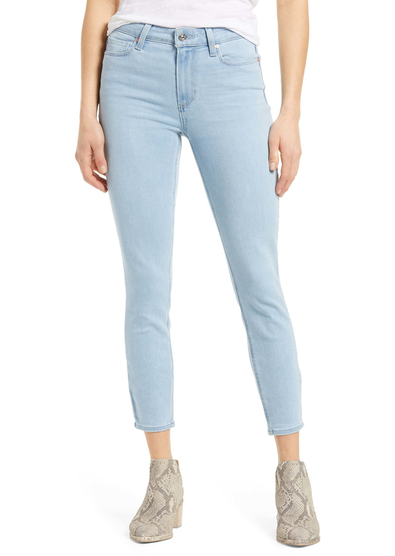 PAIGE Hoxton High Waist Crop Skinny Jeans (Broadway)