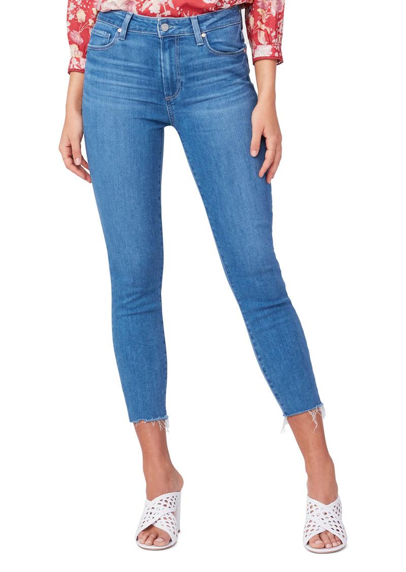PAIGE Hoxton High Waist Raw Hem Crop Skinny Jeans (Gemini)