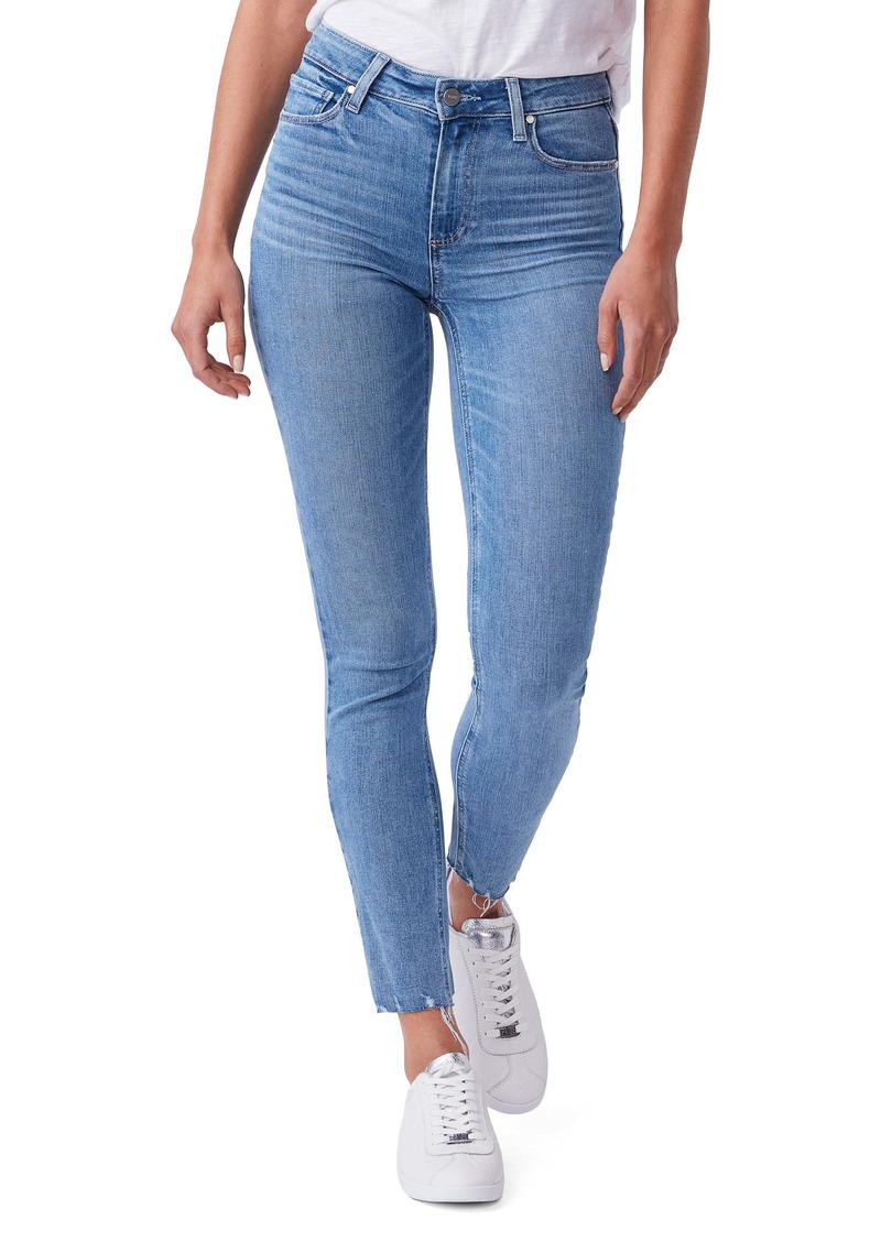 PAIGE Hoxton Raw Hem Ankle Skinny Jeans (Headliner)