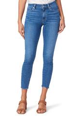 PAIGE Hoxton Raw Hem Crop Skinny Jeans (Bay)