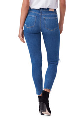 PAIGE Hoxton Ripped Chewed Hem Ankle Skinny Jeans (On the Rocks Destructed)