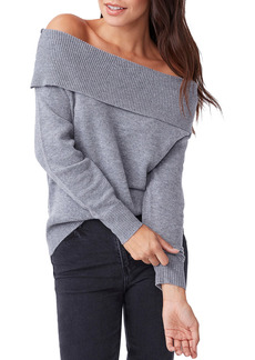 PAIGE Izabella Off the Shoulder Wool Blend Sweater