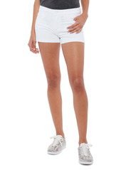 PAIGE Jimmy Jimmy High Waist Denim Shorts (Crisp White)