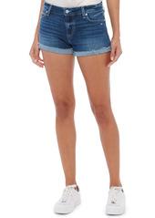 PAIGE Jimmy Jimmy Raw Cuff Denim Shorts (Cara)