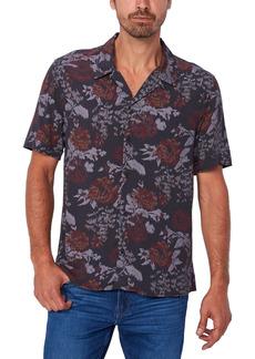 PAIGE Landon Floral Print Short Sleeve Button-Up Shirt