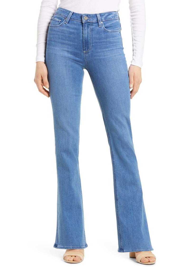 PAIGE Laurel Canyon High Waist Flare Leg Jeans (Views)