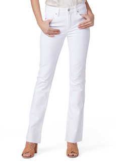 PAIGE Laurel Canyon High Waist Raw Hem Flare Leg Jeans