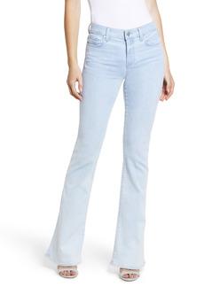 PAIGE Lou Lou High Waist Flare Jeans (Sunbleached Distressed)