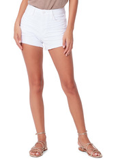 PAIGE Margot Denim Shorts (Crisp White)