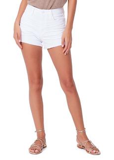 PAIGE Margot Denim Shorts (Crisp White)