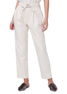 PAIGE Melila Paperbag Waist Faux Leather Pants