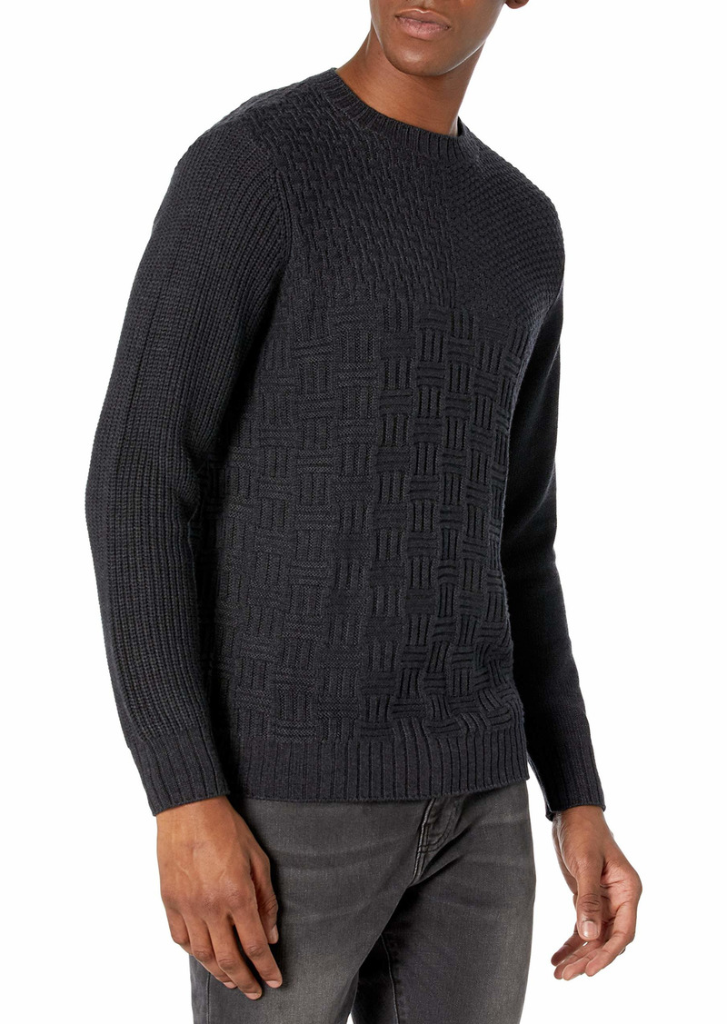 PAIGE Men's Brock Patchwork Sweater  M