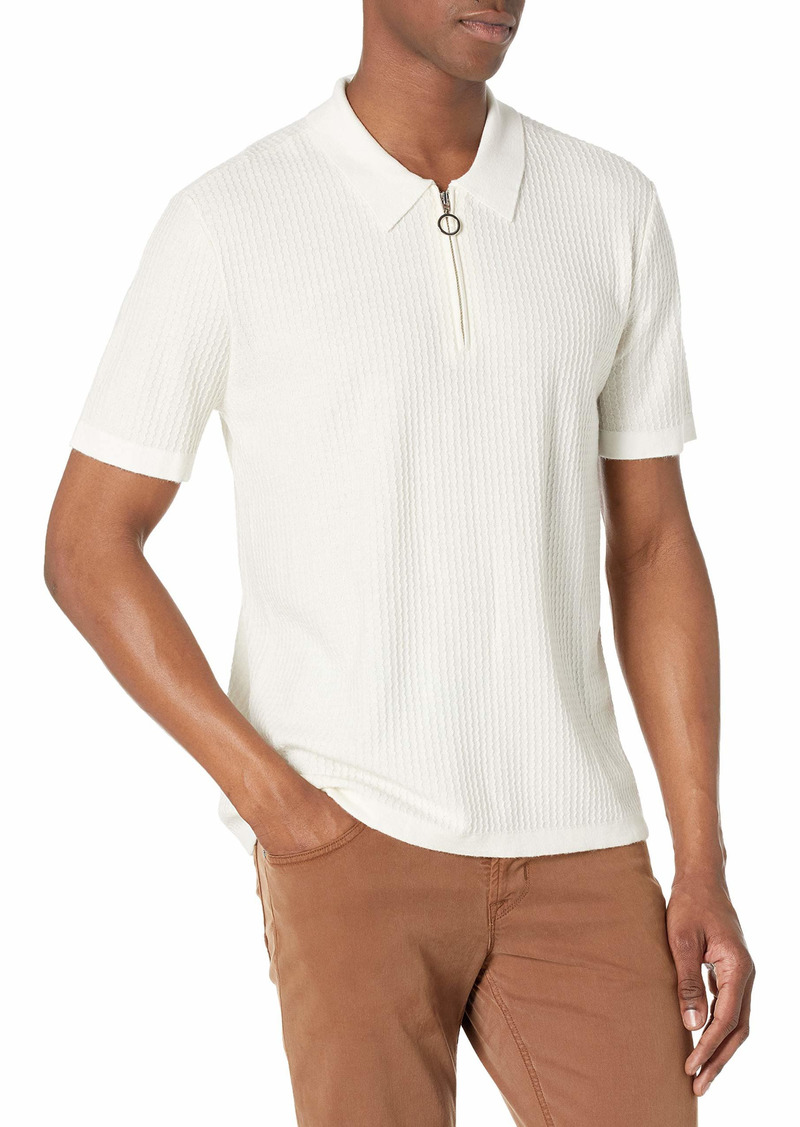 PAIGE Men's Ethan Short Sleeve Sweater Knit Polo  M
