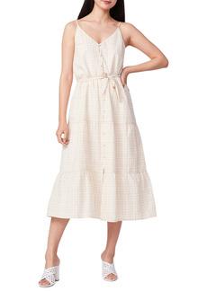 PAIGE Paprika Sleeveless Tie Waist Midi Dress
