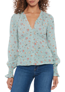 PAIGE Pepper Floral Balloon Sleeve Button-Up Shirt