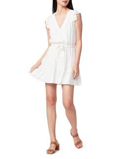 PAIGE Rosalee Flutter Sleeve Tie Waist Dress