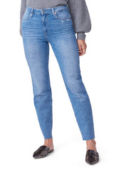 PAIGE Sarah High Waist Ankle Straight Leg Jeans (Cowgirl Distressed)