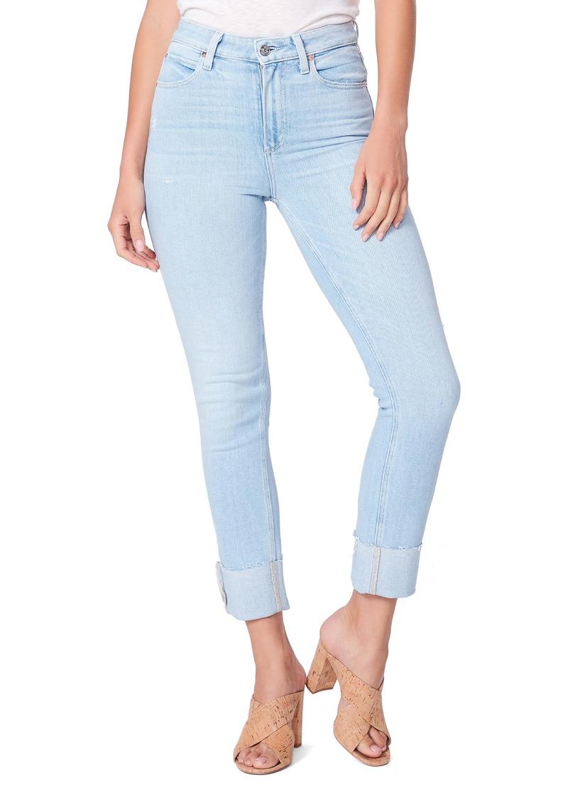 PAIGE Sarah High Waist Slim Leg Jeans (Marceline)