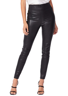 PAIGE Sheena Lambskin Leather Leggings