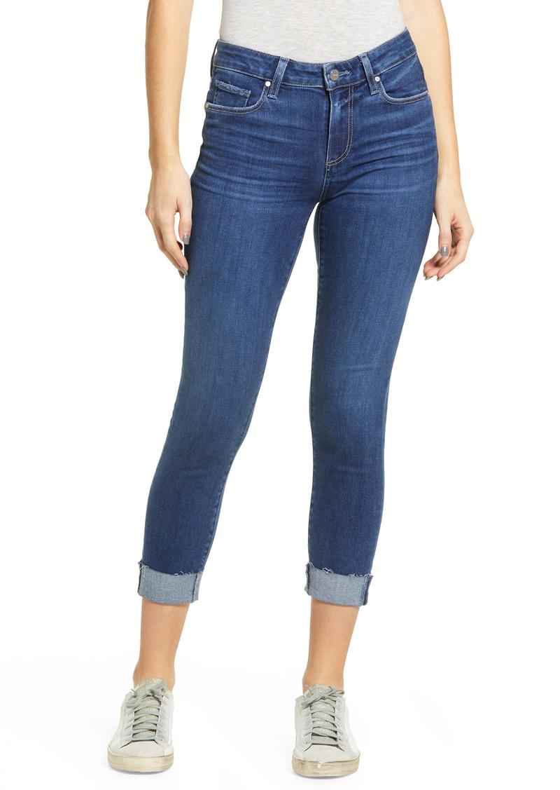 PAIGE Skyline Crop Raw Hem Skinny Jeans (Bahia)