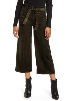 PAIGE Sutton Paperbag Crop Trousers