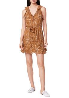 PAIGE Tia Sleeveless Ruffle Silk Dress