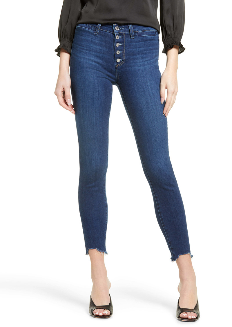 PAIGE Transcend - Hoxton High Waist Button Fly Chewed Hem Ankle Skinny Jeans (Star Sign)