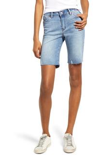PAIGE Transcend Jax Cutoff Denim Bermuda Shorts (Marcelina Distressed)