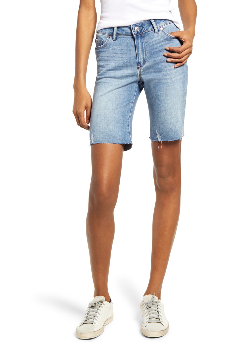 PAIGE Transcend Jax Cutoff Denim Bermuda Shorts (Marcelina Distressed)