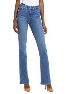 PAIGE Transcend Laurel Canyon High Waist Flare Jeans (On the Rocks Distressed)