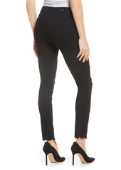 PAIGE Verdugo Deconstructed Hem Distressed Ankle Skinny Jeans (Midnight Storm)
