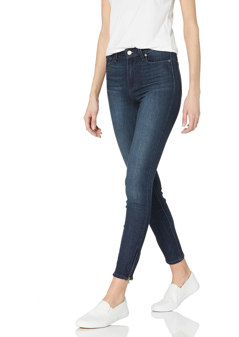 PAIGE Women's Hoxton Ankle Zip Jeans-