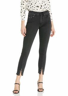 PAIGE Women's Hoxton High Rise Ultra Skinny Seam Slit Jean