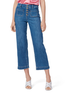 Women's Paige Nellie Exposed Button Fly High Waist Culotte Jeans