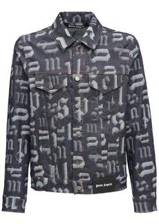 Palm Angels Broken Monogram Cotton Denim Jacket