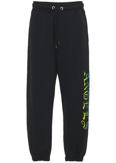 Palm Angels Hue Gothic Logo Print Jersey Sweatpants