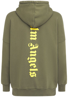 Palm Angels Oversize Ns Logo Cotton Jersey Hoodie