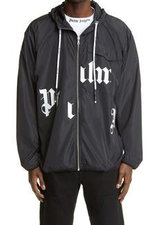 Palm Angels Broken Logo Hooded Windbreaker Jacket