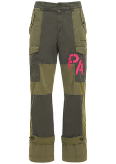 Palm Angels Patchwork Military Canvas Cargo Pants