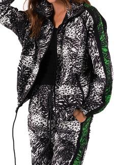 Petite Women's Pam & Gela Animal Mixed Print Jacket